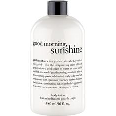 philosophy 'good morning sunshine' body lotion (595 UAH) ❤ liked on Polyvore featuring beauty products, bath & body products, body moisturizers, fillers, beauty, bath & body, extra, no color ve body moisturizer