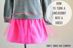 Tutorial: Easy sweatshirt dress Sewing Pattern and Sewing Dress tutorial Source by craftgossip Dresses Old Sweatshirt, Sweatshirt Refashion, Sewing Clothes, Diy Clothes, Clothes For Women, Dress Sewing, Children Clothes, Kids Clothing, Clothing Ideas