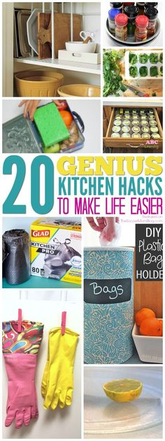 Save time, tackle clutter, and make life a little bit easier with these genius kitchen hacks from top home bloggers! Storage, organization, cleaning & more! (ad) #glad