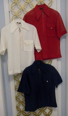 Vintage Lace Disco Shirts3 Men's Towncraft Short by linbot1,