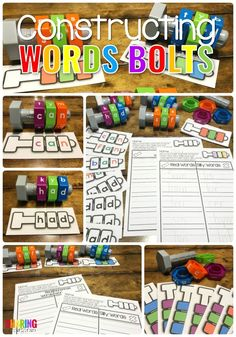 Constructing Words with nuts and bolts #learningtoread #sightwords