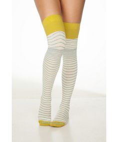 Retro Striped Over The Knee Socks