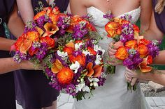 Plum and Burnt Orange :  wedding decoration orange plum Orangepurple