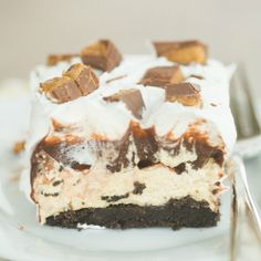 No-Bake Peanut Butter Cup Icebox Cake | Brown Eyed Baker