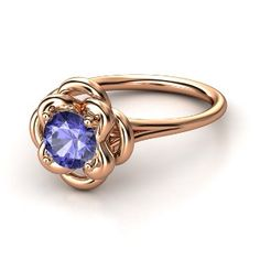 Double Clover Tanzanite Ring.