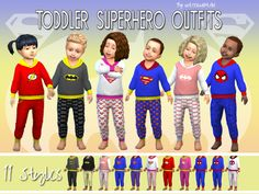 Kleinkinder Superhelden Outfits | Welcome to AKISIMA – free downloads with <3