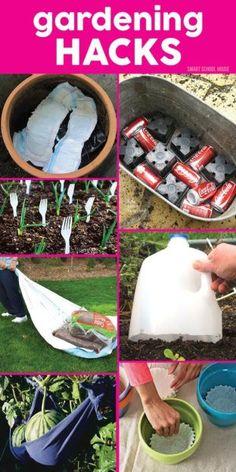 Organic Gardening Ideas 8 Genius Gardening Hacks Useful Life Hacks, Life Hacks - 8 Genius Gardening Hacks Garden Yard Ideas, Diy Garden Decor, Lawn And Garden, Garden Projects, Garden Landscaping, Landscaping Ideas, Patio Ideas, Spring Garden, Garden Fencing