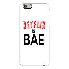 iPhone 6 Plus/6/5/5s/5c Case - Netflix Is Bae Case ($40) ❤ liked on Polyvore featuring accessories, tech accessories and iphone case