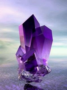 Not a real crystal, just a pretty representation
