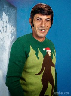 Leonard Nimoy Christmas Bigfoot Sweater