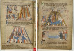 11th Century striped tents http://www.bl.uk/manuscripts/Viewer.aspx?ref=cotton_ms_claudius_b_iv_fs001r  Cotton MS Claudius B IV 2nd quarter of the 11th century-2nd half of the 12th century,