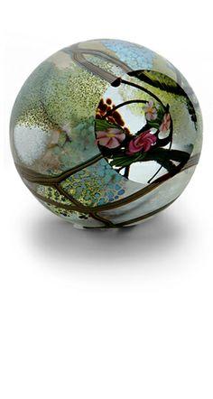 Okra Glass paperweight