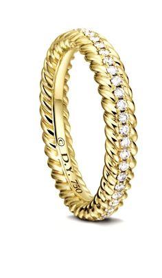 David Yurman, wedding ring, gold wedding ring, yellow gold wedding ring, wedding, bride, groom, alyans, טבעת נשואין, محبس, βέρα, anel de casamento, anillo de boda, anello nuziale, bague de mariage, diamond ring