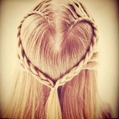 """A great idea for the little ones. For a step-by-step guide to making a """"Heart Braid"""" visit: http://www.cozyscutsforkids.com/blog/index.php/2011/11/how-to-do-the-heart-braid/"""