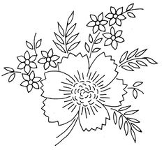 Flower Embroidery. jwt