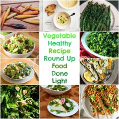 Vegetable Healthy Recipe Round Up www.fooddonelight.com #healthyvegetablerecipes #vegetablerecipe