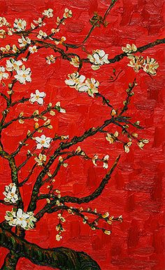 Vincent van Gogh - From 'Almond Blossoms' Series (1888-1890). One of my favorite artist in my favorite color.