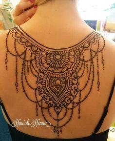 Henna Tattoo Back, Back Henna, Mehndi Tattoo, Back Tattoos, Body Art Tattoos, New Tattoos, Cool Tattoos, Belly Tattoos, Mehndi Art Designs