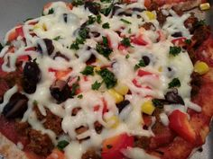 Whole Grain Pita Pizzas:  Black Beans, Red Peppers, Corn, Red Onion, Cilantro » Live Well Furman