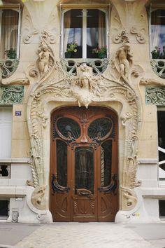 Art Nouveau front door for the Writing retreat.