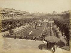 Les jardins du Palais-Royal en 1890 – © BNF / Vergue