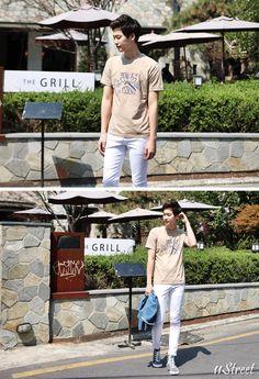 Men's Printed Tee / Round Neck Tee [B.WEGHEN] 11Street #casual #streetlook #koreanfashion