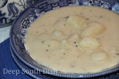 Grandma's Homemade Potato Soup - An old fashioned, simple, chunky potato soup like Grandma made, with russet potatoes, onion, butter, evaporated milk, a little flour, and seasoned simply with salt and pepper.