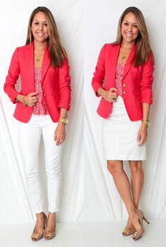 pink n white office - J's Everyday Fashion