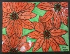 After exploring the art and style of Georgia O'Keefe, your students will create their own poinsettia masterpieces!  #classroomideas #crafts