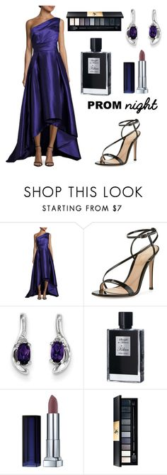 """""""Untitled #623"""" by elizabeth-buttery on Polyvore featuring Monique Lhuillier, Gianvito Rossi, Kevin Jewelers, Kilian, Maybelline and Yves Saint Laurent"""
