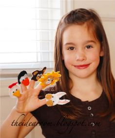lots of finger puppets