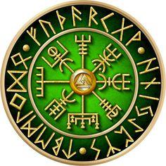 Norse Vegvisir Runes - Green