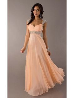 <3 <3 <3 <3 A-line Straps Floor-length Chiffon with Beading Prom Dress