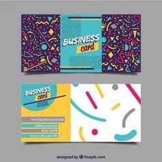 Tarjeta de negocios alegre con formas geométricas Vector Gratis