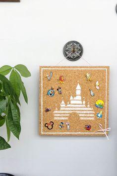 DIY: Disney Pin Display Board   [ https://style.disney.com/living/2016/05/22/diy-enamel-pin-display-board/ ]