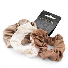 Hair scrunchies-Animal Print-Brown leopard black cream set of 3 fancy elastic ❤*