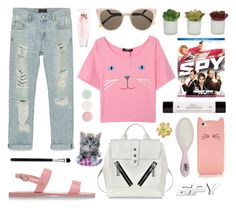 """""""M A G N E T S"""" by janita31 ❤ liked on Polyvore featuring Kate Spade, Ancient Greek Sandals, Zara, Fendi, Kenzo, Nails Inc., philosophy, Victoria's Secret, Threshold and SpyMovie"""