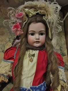 """27"""" Simon & Halbig 1079 Doll Original Owner Old Clothes Beautiful Doll in Dolls & Bears, Dolls, Antique (Pre-1930), Bisque, German 