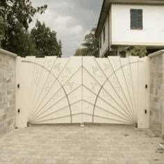 Beautiful automatic driveway gate.