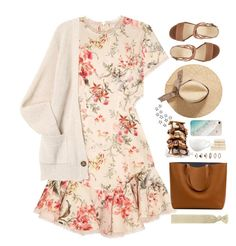 """summer nights"" by ishipbullshit ❤ liked on Polyvore featuring Zimmermann, Accessorize, Nine West, Forever 21, Gray Malin, Villeroy & Boch and Christy"