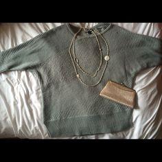 Sweater by A.N.A Gray sweater by A.N.A. Size M.  Gently worn.  Bundle & save!!!✌️ a.n.a Sweaters Crew & Scoop Necks