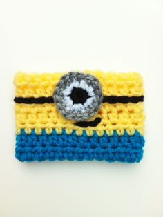 Minion Coffee Cozy - Wish I could crochet