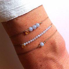 Blue Lace Agate on Silk bracelet - Healing Crystal Intention: ' deep peace' Blue Lace Agate on Silk bracelet - Healing Crystal Intention: ' deep peace' Cute Jewelry, Jewelry Crafts, Beaded Jewelry, Handmade Jewelry, Blue Lace Agate, Gemstone Bracelets, Jewelry Bracelets, Anklets, Friendship Bracelets