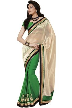 Fawn designer party wear saree online from Easysarees