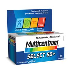 MULTICENTRUM SELECT 50+ 90 Tabs - Multicentrum - Vitaminas y Minerales