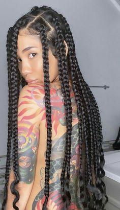 Black Girl Braids, Braided Hairstyles For Black Women, Braids For Black Hair, Girls Braids, Braids Hairstyles Pictures, African Braids Hairstyles, Big Box Braids Hairstyles, Hairstyle Braid, Protective Hairstyles