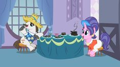 File:Rarity and Sweetie Belle's parents Twilight Sky, Twilight Sparkle, Apple Brown Betty, Lyra Heartstrings, Sweetie Belle, Storm King, Cherries Jubilee, Some Beautiful Pictures, Girls Characters