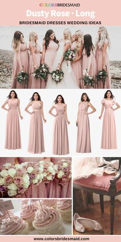 5 Most Beautiful Dusty Rose Long Bridesmaid Dresses Online 8be7496d8f83