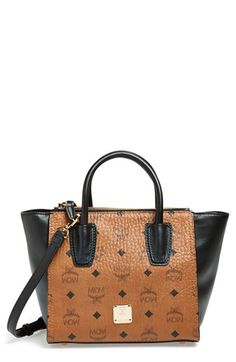 d5234f383856 Free shipping and returns on MCM  Small Cognac Visetos  Coated Canvas Tote  at Nordstrom