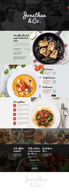 Template 53964 - Restaurant Cafe  Responsive Joomla Template